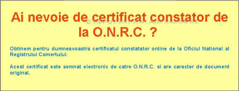 certificat constator oficiul national al registrului comertului